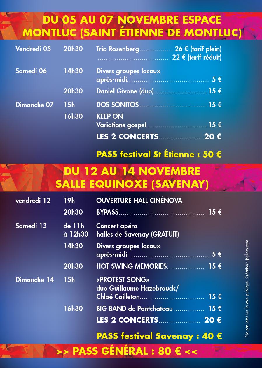 Programme Si On Jazz'ay Festival 2021